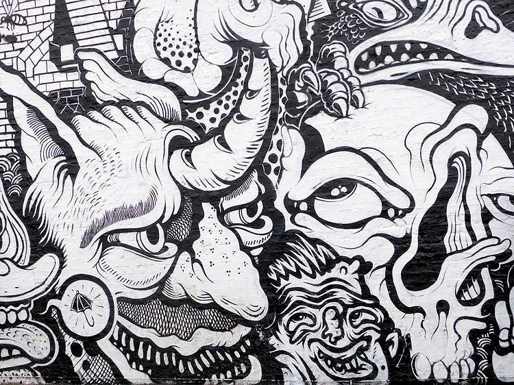 En Masse Project - Mural - London - Mr Gauky - Graphic