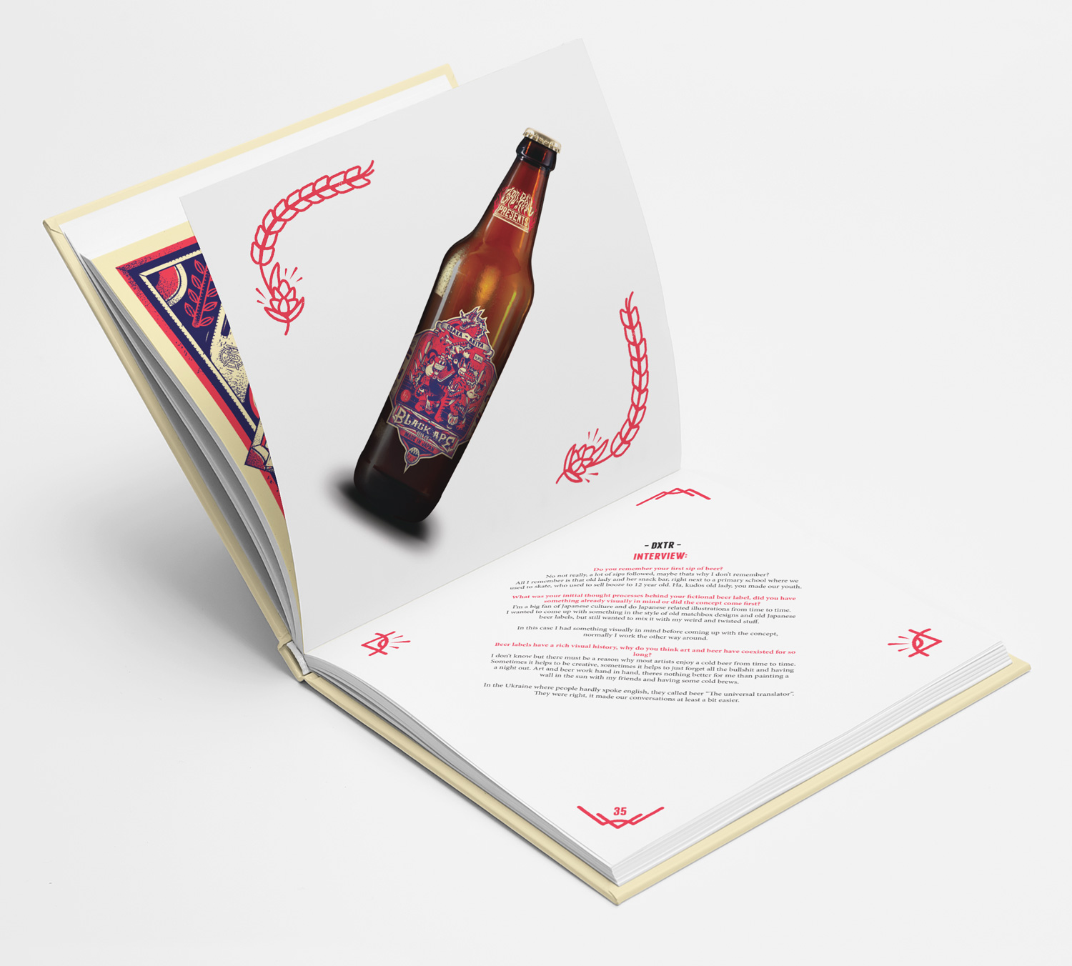 ABV – Artist Beer Visions - A Book Of Fictional Beer Labels