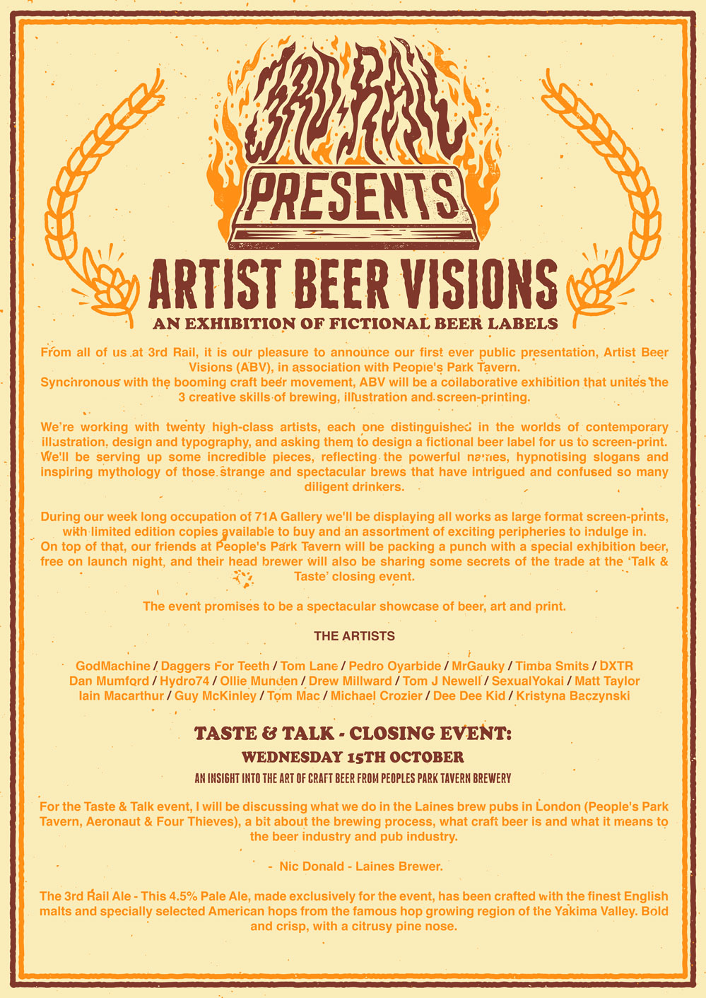 Artist Beer Visions - ABV - An Exhibition Of Fictional Beer